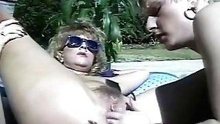 80s poolside lesbi fuck