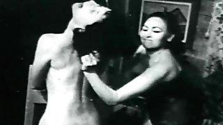 Mistress spanks college girl, hard