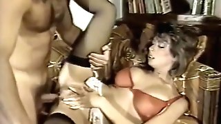 Christy Canyon In High-heeled Slippers And Stockings Fucked