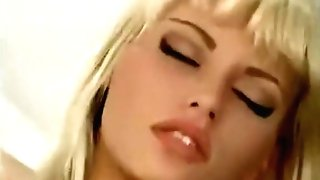 Anita Blonde Fucks In Black Stockings