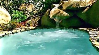Danni Ashe - Displaying Her Beautiful Tits In A Swimming Pool