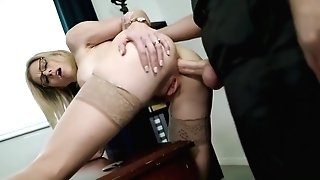 Cory Chase In Retro Cougar Job Interview