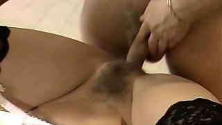 SPUNK on Secretary's Hairy Cunt