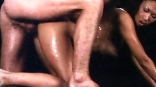 Antique Chesty Asian Gal - Hot Oil Rubdown and Fuck
